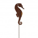 Metal plug seahorse, H120cm, rust